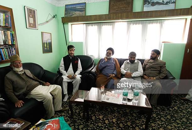 Chairman of hardline faction of Hurriyat Conference Syed Ali Shah Geelani and senior separatist leaders Nayeem Khan Shabir Shah Shia cleric Aga Syed...