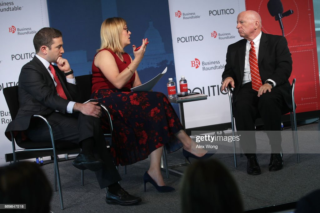 House Ways And Means Chairman Kevin Brady Discusses Tax Reform At Politico : News Photo