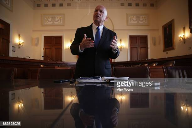 Chairman of House Ways and Means Committee Rep Kevin Brady speaks during a news briefing on the tax reform legislation November 2 2017 on Capitol...