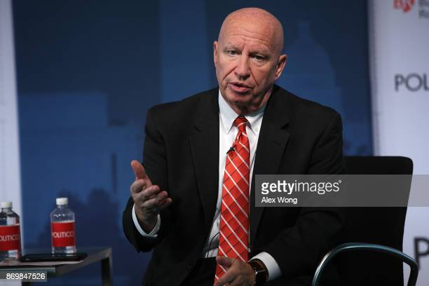 Chairman of House Ways and Means Committee Rep Kevin Brady speaks during an event at the Newseum November 3 2017 in Washington DC Rep Brady...