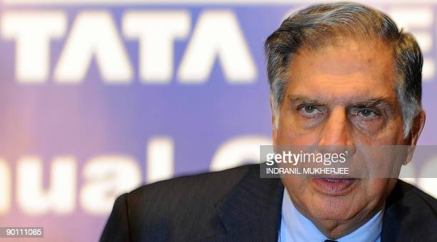 Chairman of India's Tata Group Ratan Tata arrives at the Tata Steel's annual general meeting in Mumbai on August 27, 2009. The world's eighth-largest...