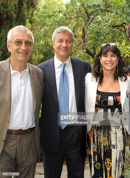 Chairman of Lacoste SA Michel Lacoste Chairman and CEO of JP Morgan Chase Jamie Dimon his wife Judith Kent Dimon attend the Lacoste and JP Morgan...