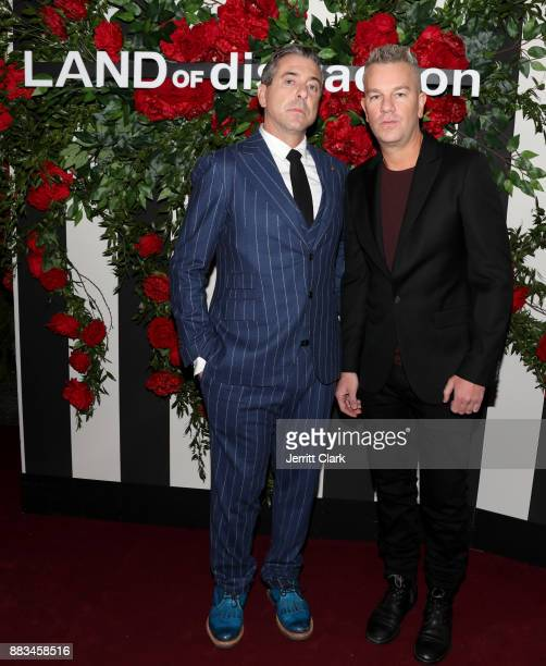 Chairman of LAND of distraction Lauri Venning and CMO of LAND of distraction Josh Reed at the LAND of distraction Launch Party at Chateau Marmont on...