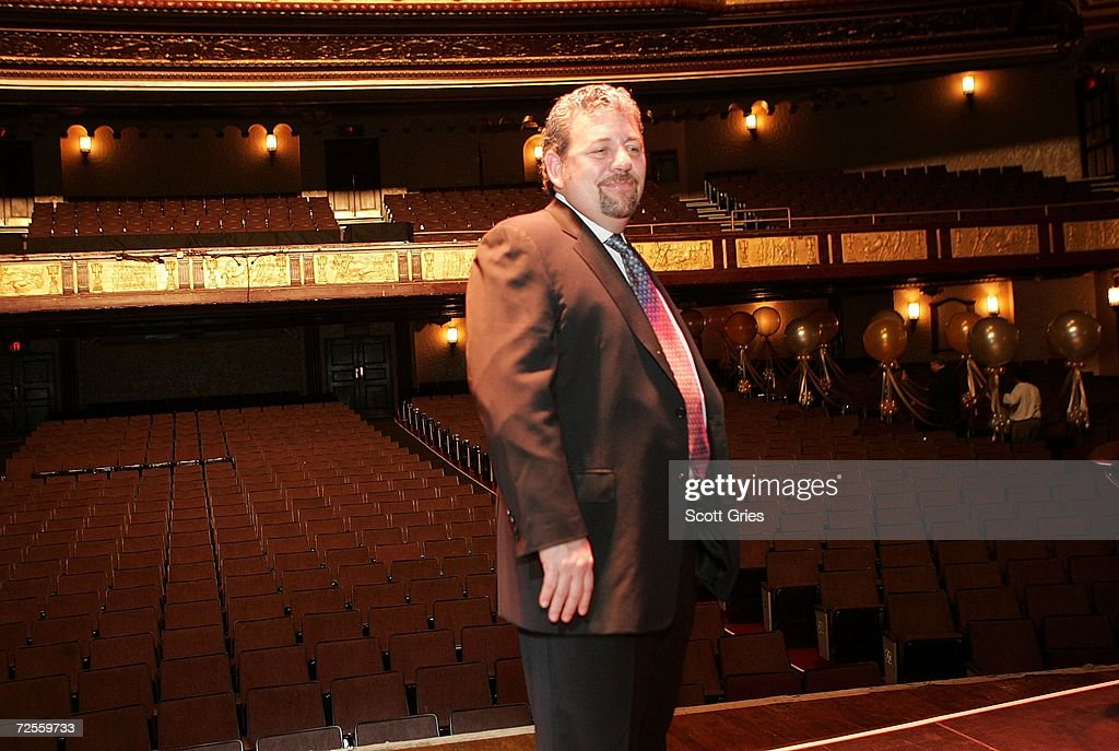 Chairman of Madison Square Garden James L. Dolan poses for a photo onstage following a press conference to announce that MSG Entertainment will acquire the Beacon Theater on November 15, 2006 at the Beacon Theater in New York City.