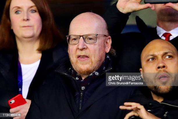 Chairman of Manchester United Avram Glazer attends the UEFA Champions League Round of 16 Second Leg match between Paris Saint-Germain and Manchester...