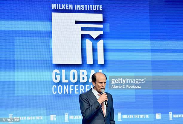 Chairman of Milken Institute Michael Milken speaks onstage during 2016 Milken Institute Global Conference at The Beverly Hilton on May 03 2016 in...