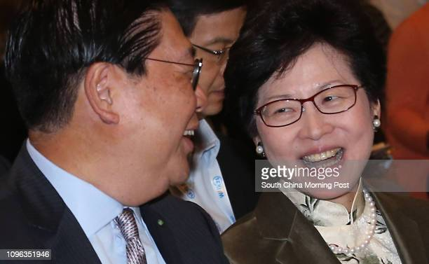 Chairman of MTR Corporation Frederick Ma Sihang and Chief Secretary Carrie Lam Cheng Yuetngor attend Day one of Walk 21 Hong Kong on walkability and...