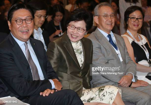 Chairman of MTR Corporation Frederick Ma Sihang Chief Secretary Carrie Lam Cheng Yuetngor Deputy chairman of Hong Kong Jockey Club Anthony Chow...
