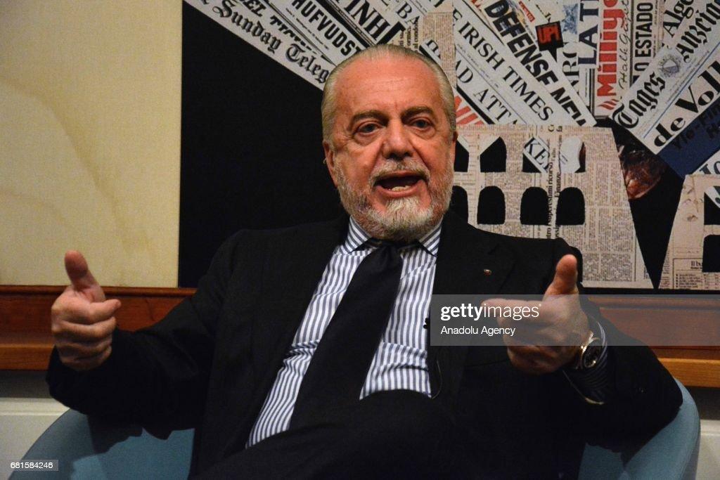 Chairman of Napoli Football Club Aurelio De Laurentiis... : Foto di attualità