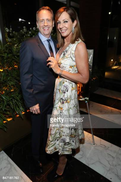 Chairman of NBC Entertainment Bob Greenblatt and Allison Janney attend The Hollywood Reporter and SAGAFTRA Inaugural Emmy Nominees Night presented by...