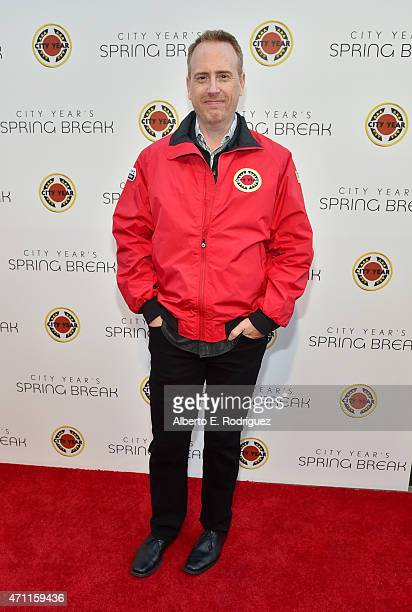Chairman of NBC Entertainment Robert Greenblatt attends City Year Los Angeles Spring Break at Sony Studios on April 25 2015 in Los Angeles California
