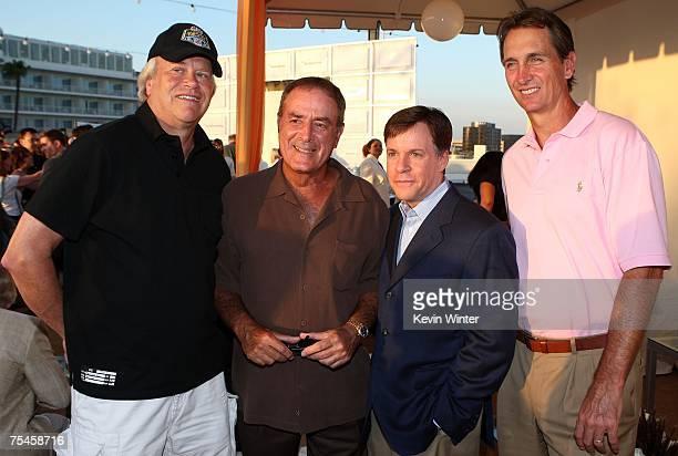 Chairman of NBC Universal Sports Olympics Dick Ebersol and NBC sports analysts Al Michaels Bob Costas and Cris Collinsworth attend the NBC AllStar...