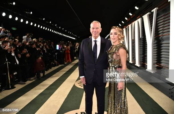 Chairman of NY Giants Steve Tisch and Katia Francesconi attend the 2017 Vanity Fair Oscar Party hosted by Graydon Carter at Wallis Annenberg Center...