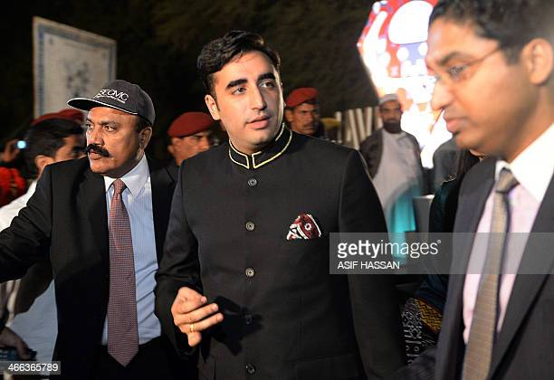 Chairman of Pakistan Peoples Party Bilawal Bhutto Zardari arrives to attend a cultural heritage festival at the ancient ruins of Moenjodaro the...