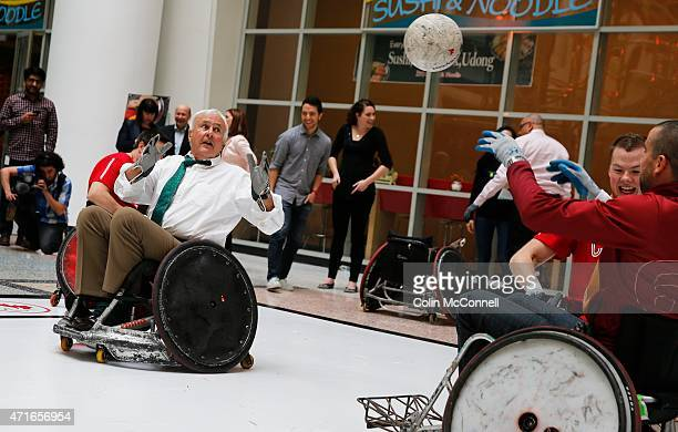 Chairman of Panam,David Peterson participates with the athletes Launch event held at the CBC on Front St for the 100 days to ParaPan with speakers...
