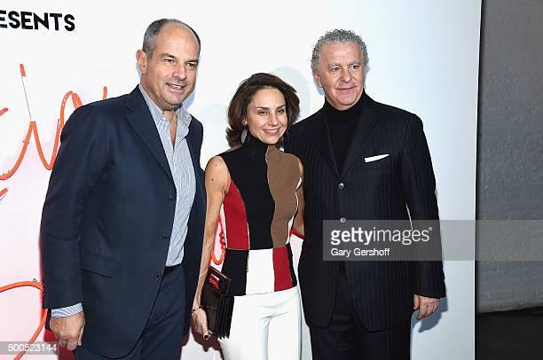 Chairman of Salvatore Ferragamo, Massimo Ferragamo, Chiara Ferragamo and CEO of Fragrances, Luciano Bertinelli attend Ferragamo Presents: Gancio...