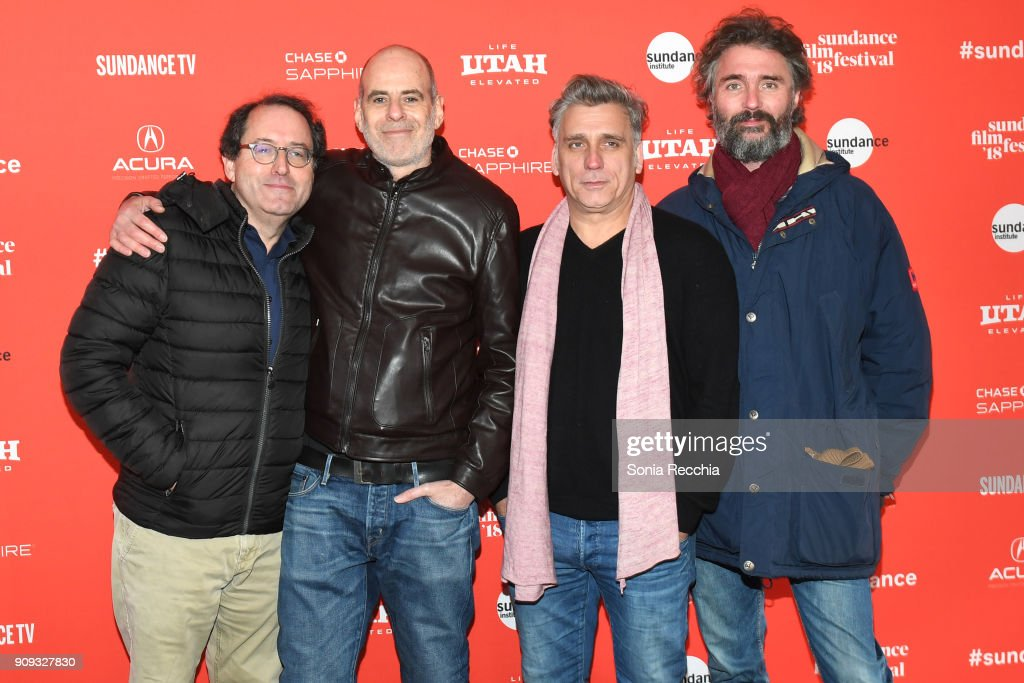 Chairman of Sony Pictures Motion Picture Group Tom Rothman, Director Samuel Maoz, Actor Lior Ashkenazi and Michael Weber attend the 'Foxtrot' Premiere during the 2018 Sundance Film Festival at Park City Library on January 23, 2018 in Park City, Utah.