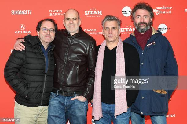Chairman of Sony Pictures Motion Picture Group Tom Rothman Director Samuel Maoz Actor Lior Ashkenazi and Michael Weber attend the 'Foxtrot' Premiere...