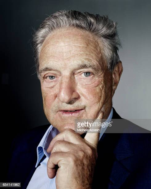 Chairman of Soros Fund Management and the Open Society Institute, George Soros poses at a portrait shoot in 2003 in New York City.