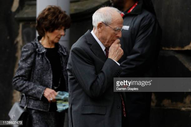 Chairman of Stoke City Peter Coates attends the funeral of 1966 World Cup and former Stoke City Goalkeeper Gordon Banks on March 04 2019 in Stoke...