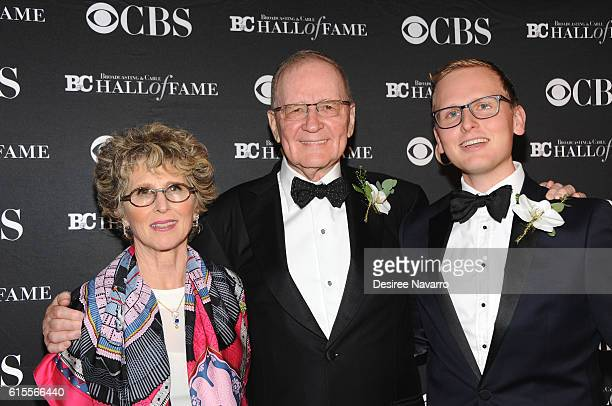 Chairman of Sucherman Group Stuart Sucherman with Betsy Sucherman and David Sucherman attend the 2016 Broadcasting Cable Hall of Fame 26th...