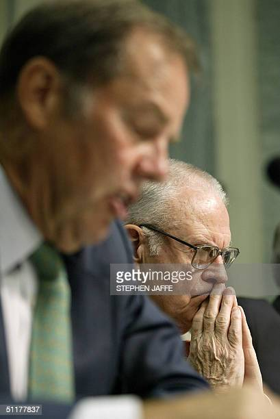 Chairman of the 9/11 Commission Thomas Kean and Vice Chairman of the 9/11 Commission Lee Hamilton testify before the Senate Committee on Commerce 16...