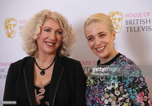 Chairman of the Academy Anne Morrison and actress Amanda Abbington attend a photocall as the nominations are announced for the House of Fraser...