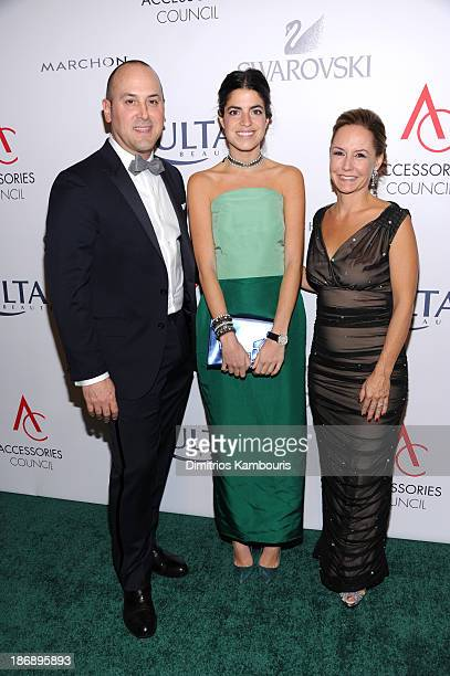 Chairman of the Accessories Council Frank Zambrelli blogger Leandra Medine and President of Accessories Council Karen Giberson attend the 17th Annual...