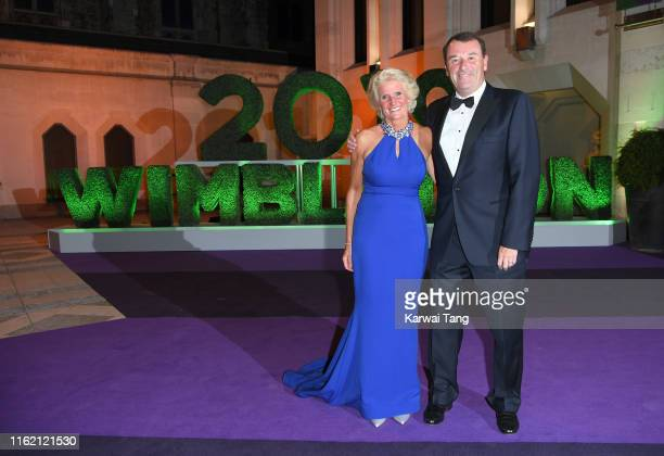 Chairman of the AELTC Philip Brook and Gill Brook attend the Wimbledon Champions Dinner at The Guildhall on July 14 2019 in London England