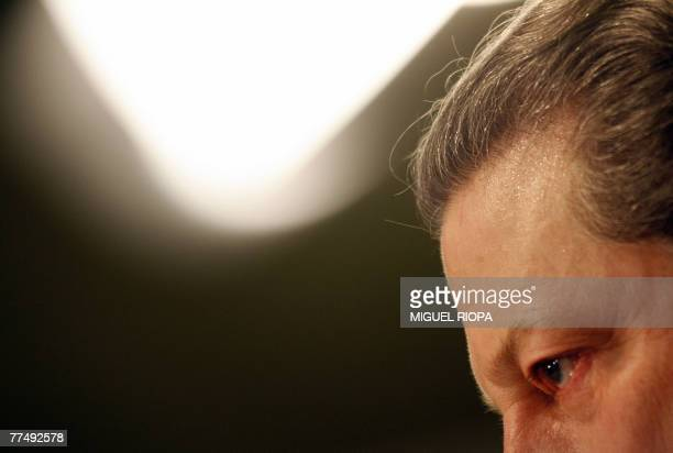 Chairman of the Alliance for Climate Protection US Al Gore and winner of the Prince of Asturias Award for International Cooperation speaks at a press...