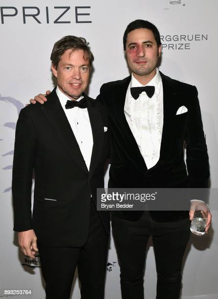Chairman of the Berggruen Institute Nicolas Berggruen and Julio Santo Domingo attend the Berggruen Prize Gala at the New York Public Library on...