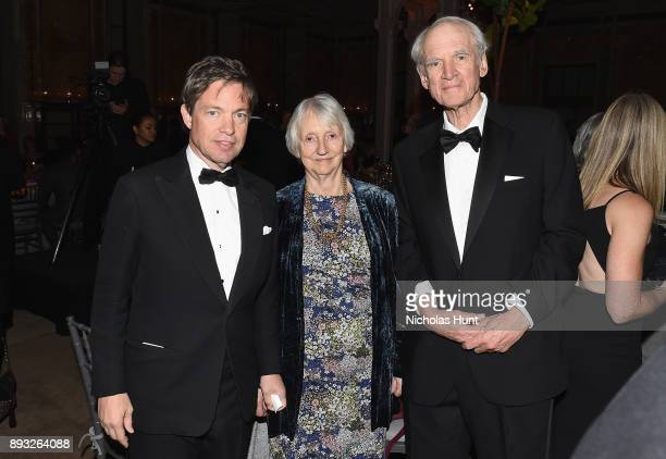 Chairman of the Berggruen Institute Nicolas Berggruen Baroness Onora O'Neil and Charles Taylor attend the Berggruen Prize Gala at the New York Public...