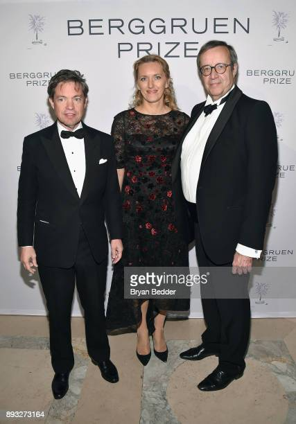 Chairman of the Berggruen Institute Nicolas Berggruen Ieva Ilves and Former President of Estonia Toomas Hendrik Ilves attend the Berggruen Prize Gala...