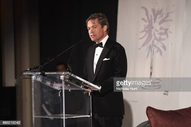 Chairman of the Berggruen Institute Nicolas Berggruen speaks onstage during the Berggruen Prize Gala at the New York Public Library on December 14...