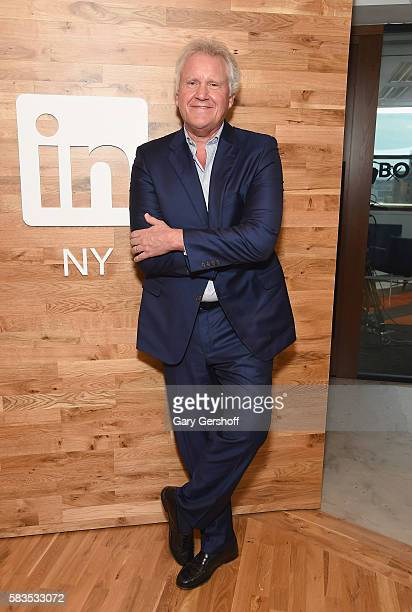Chairman of the board and chief executive officer of General Electric Jeff Immelt visits LinkedIn at LinkedIn on July 26 2016 in New York City
