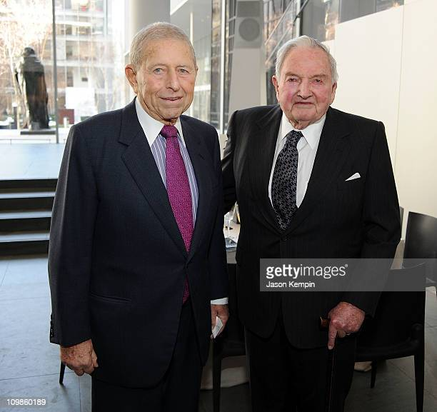 Chairman of the Board and Chief Executive Officer of Transammonia Ronald P Stanton and David Rockefeller attend the 2011 David Rockefeller Award...