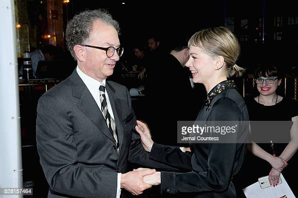 Chairman of the Board for the American Theatre Wing William Ivey Long and actress Michelle Williams attend the 2016 Tony Awards Meet The Nominees...