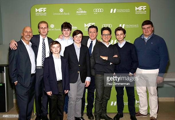 Chairman of the Board MFF Bob Feinberg Stephen Colbert and JJ Abrams attend Montclair Film Festival Presents Celebrity NerdOff Stephen Colbert JJ...
