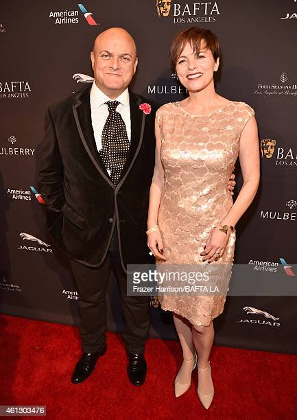 Chairman of the Board Nigel Daly and Louise Salter attend the BAFTA Los Angeles Tea Party at The Four Seasons Hotel Los Angeles At Beverly Hills on...