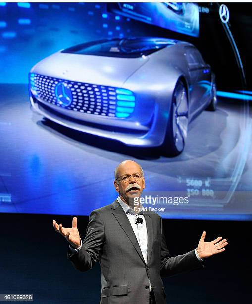 Chairman of the Board of Management of Daimler AG and head of MercedesBenz Cars Dr Dieter Zetsche speaks at a press event unveiling the MercedesBenz...
