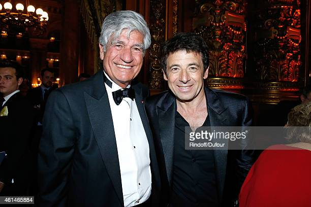 Chairman of the Board of Publicis Group Maurice Levy and singer Patrick Bruel attend Weizmann Institute celebrates its 40 Anniversary at Opera...