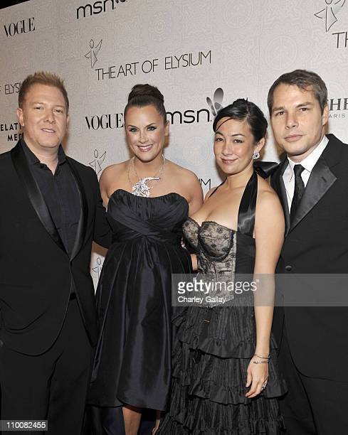 Chairman of the Board of The Art of Elysium and Founder of Relativity Media LLC Ryan Kavanaugh Jennifer Howell wearing a necklace by Boucheron Amanda...
