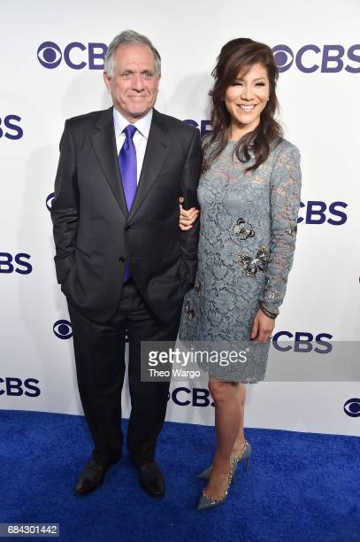 Chairman of the Board President and Chief Executive Officer of CBS Corporation Les Moonves and Julie Chen attend the 2017 CBS Upfront on May 17 2017...