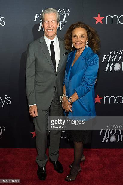 Chairman of the Board, President, and Director at Macy's, Inc. Terry J. Lundgren and designer Diane von Furstenberg attend Macy's Fashion's Front Row...