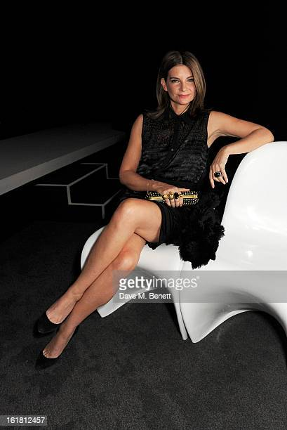 Chairman of the British Fashion Council Natalie Massenet attends the 2013 International Woolmark Prize Final at ME London on February 16, 2013 in...