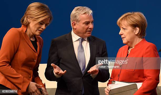 Chairman of the CDU of Rhineland Palatinate Julia Kloeckner Minister of the interior in BadenWuerttemberg Thomas Strobel and Chancellor and...