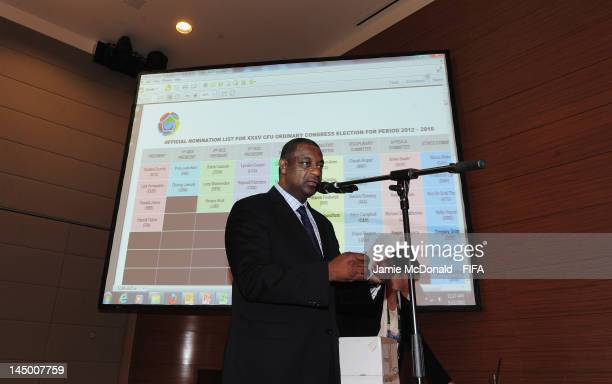 Chairman of the CFU Normalisation Committee Jeffrey Webb counts out the votes during the XXXV CFU Ordinary Congress at the Boscolo New York Palace...