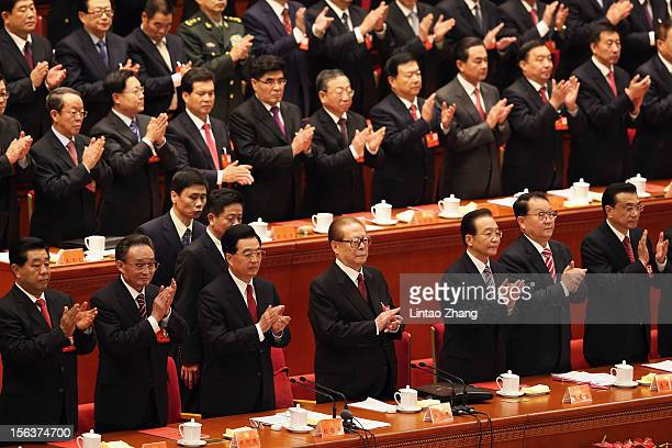 Chairman of the Chinese People's Political Consultative Conference Jia Qinglin,Chinese Chairman and Party Secretary of the National Peoples Congress...