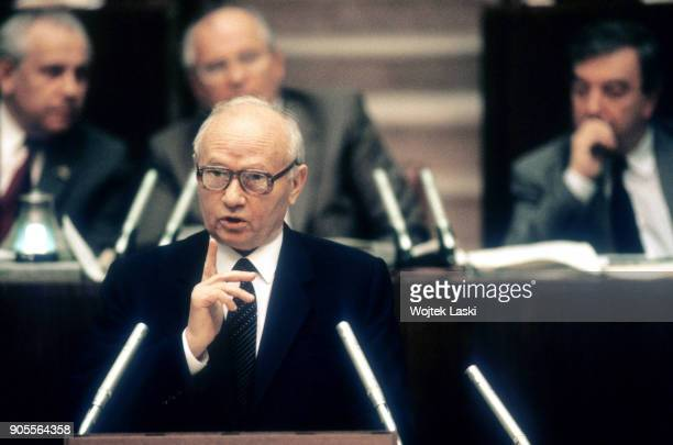Chairman of the Committee for State Security KGB Vladimir Kryuchkov during session of the USSR Supreme Soviet of XII convocation in Moscow, Soviet...
