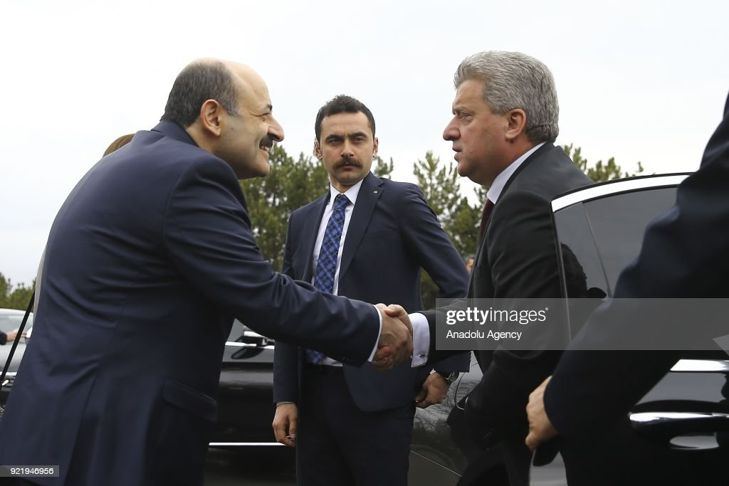 President of Macedonia Gyorge Ivanov in Ankara : News Photo